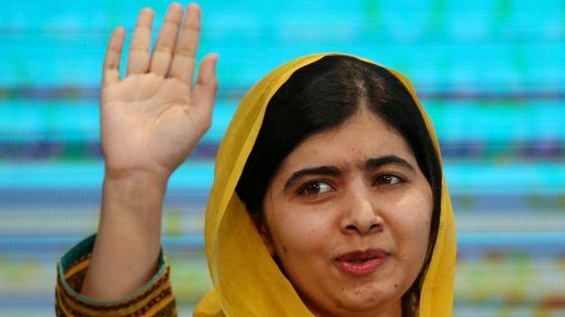 Malala Yousafzai em evento no México.