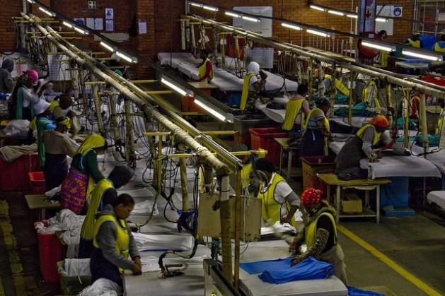 industria África vende apenas petróleo e vestuário para os Estados Unidos