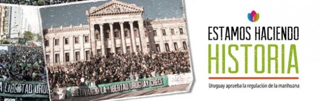 cartaz Uruguai busca maconha de qualidade
